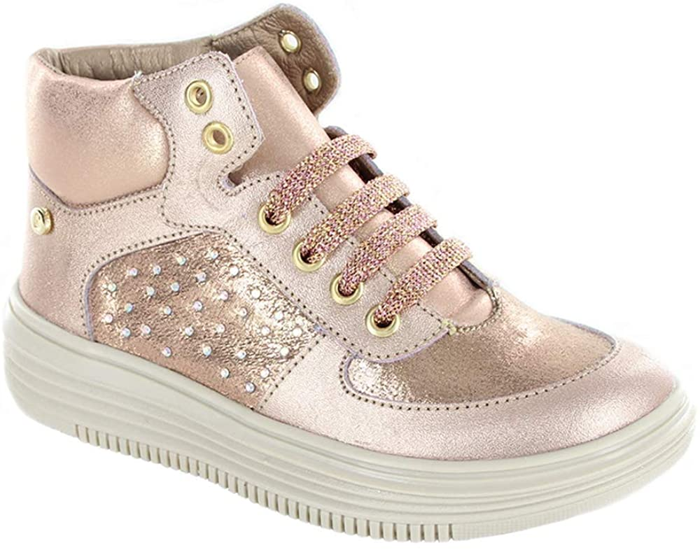 COQUETA Girls Sneakers with Glitter Design (Toddler/Little Kid/Big Kid) Rose Gold