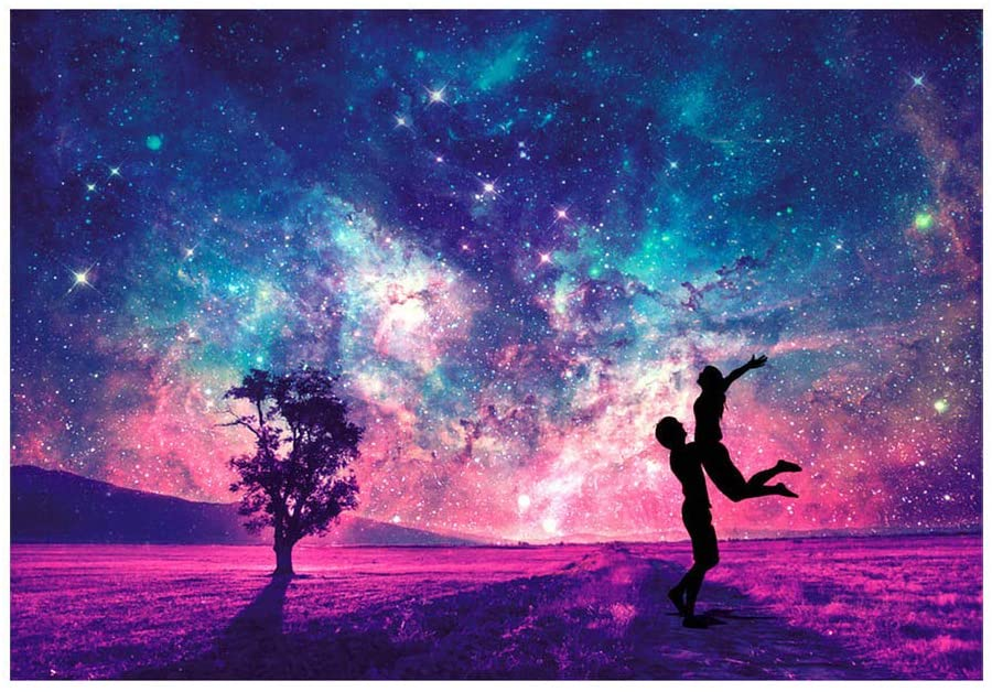 Nepdome Jigsaw Puzzles 150 Pieces for Adults Kids-StarNightlight Series Romantic Couple, Have You All The Way!!! Entertainment Wooden Puzzles Toys