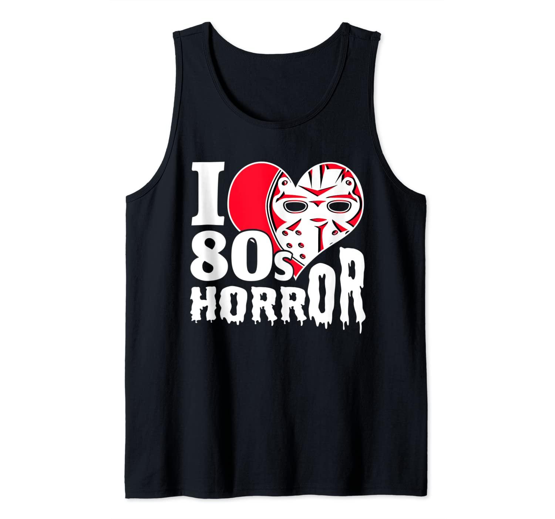 Love 80s Horror Movie Hockey Mask Tank Top