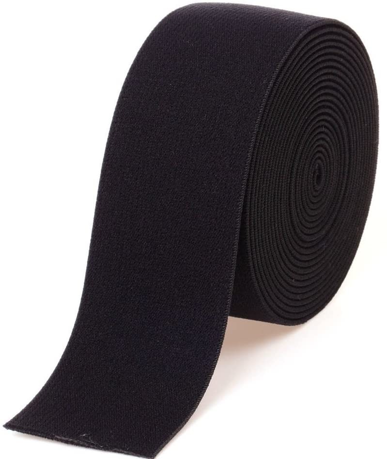 Gourd 5 Yards Black Plush Elastic,Soft Comfortable Sewing Elastic (1.5-Inch)