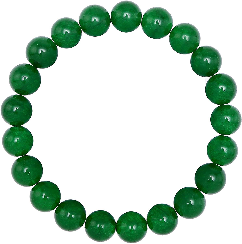 BRCbeads Gemstone Bracelets Natural Genuine Gemstones Birthstone Handmade Healing Power Crystal Beads Elastic Stretch 10mm 7.5 Inch with Gift Box Unisex