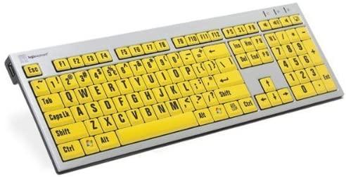 LogicKeyboard LargePrint Black on Yellow - PC Slim Line Keyboard - LKBU-LPRNTBY-AJPU-US