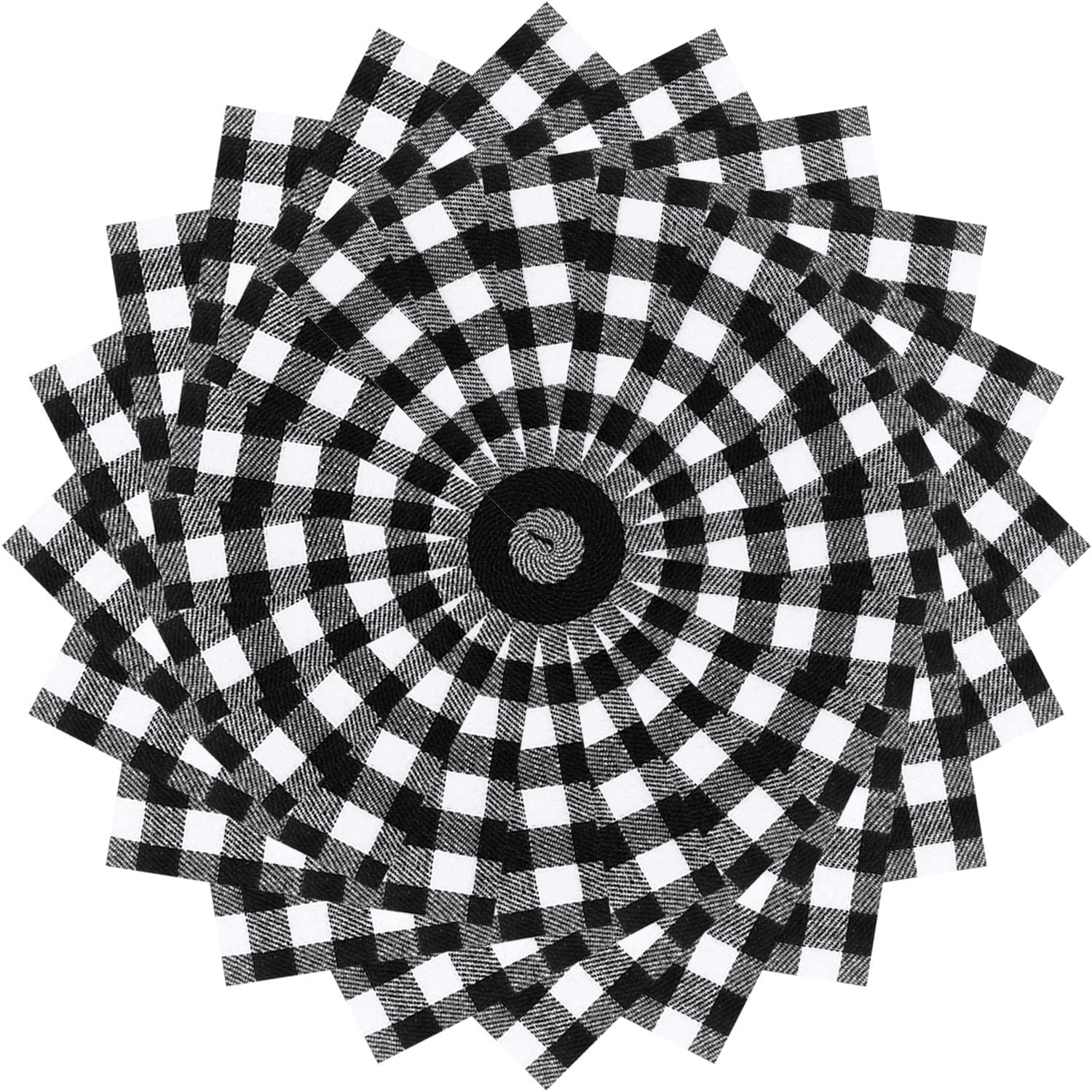 40 Pieces Christmas Precut Fabric Cotton Quilting Fabric Squares Black and White Plaid Sewing Fabric for DIY Craft Sewing Quilting, 5.9 x 5.9 Inches