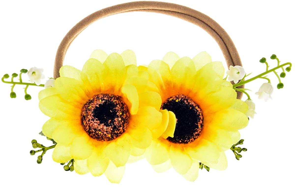 DreamLily NewBorn Baby Flower Crown Flower Baby Headband Floral Head Piece for Toddler BB13