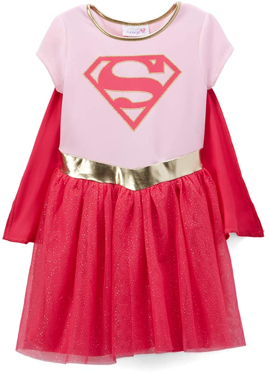 DC Comics Toddler Costume Dress & Cape Choose: Wonder Woman Batgirl or Supergirl