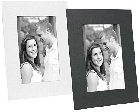 Black cardstock photo easel frame w/plain border sold in 25s - 4x6