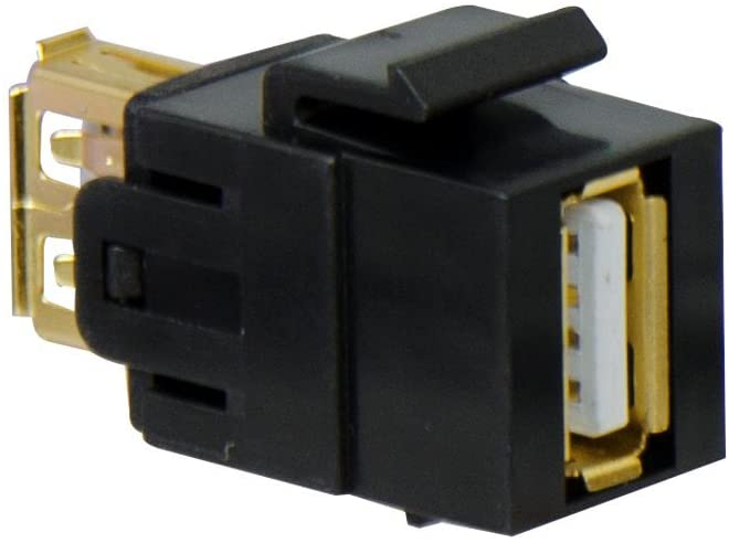 Legrand - On-Q WP1220BK USB 2.0 A/A Coupler Keystone Insert, Black