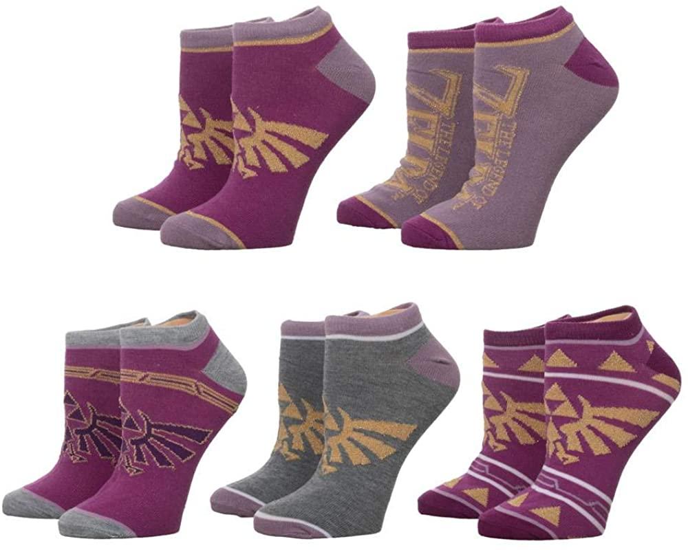 Legend Of Zelda Twilight Princess 5-Pair Pack Womens Ankle Socks