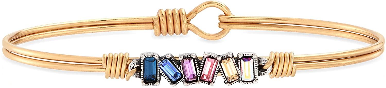 Luca + Danni | Mini Hudson Bangle Bracelet in Light Ombre For Women Made in USA
