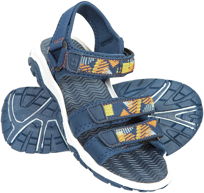 Mountain Warehouse Reef 3 Strap Kids Sandals - Neoprene Lined
