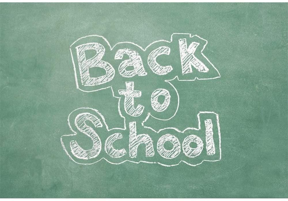 Leyiyi 9x6ft Vinyl Photography Background Back to School Backdrop Blackboard Chalk Painting Kids Photo Studio Props Backgrounds