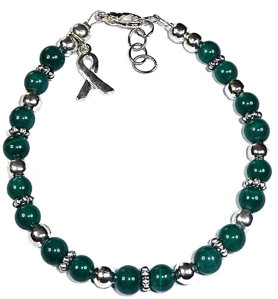 Hidden Hollow Beads Cancer Awareness Bracelet, for Showing Support or Fundraising Campaign, 18 Colors to Choose from, Adult Sized with Extension. Comes Packaged.