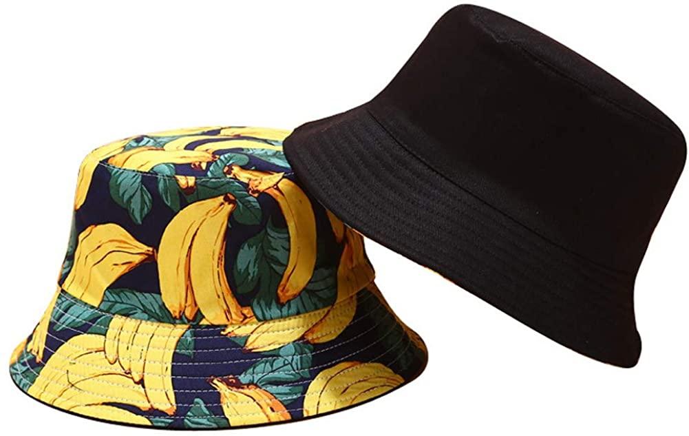 AiLike Unisex Fruit Pattern Reversible Bucket Hat Fishman Cap for Summer Travel Outdoor