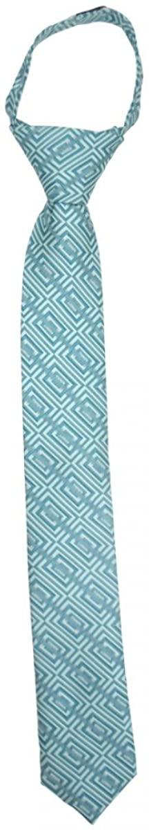 Satin with Boxes Zipper Up Necktie Adjustable Formal