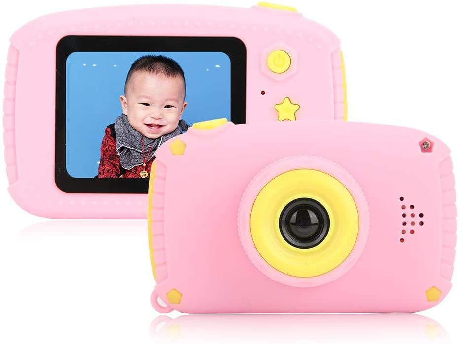 Mini Digital Camera, 2.0 inch Color Screen HD Children's Camera, Photo/Video Camera Toy with 32 GB Memory Card, Children's Toys for Girls Birthday Presents(Pink)