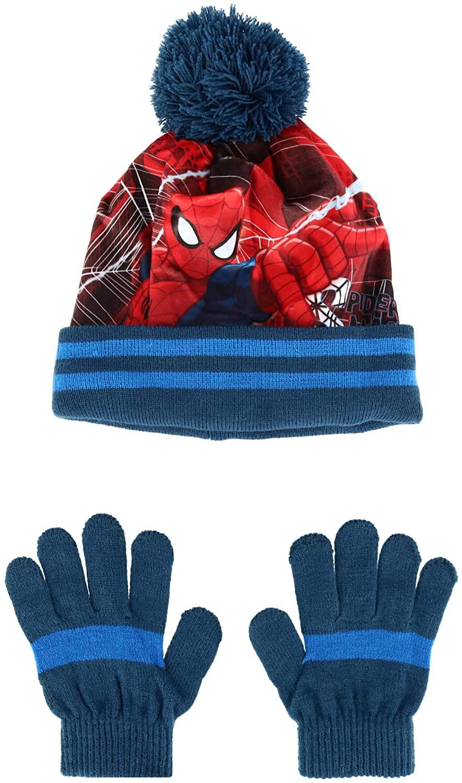 Textiel Trade Kids' Spiderman Beanie Cuff Cap and Glove Set