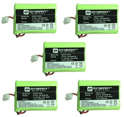 AT&T 27910 Cordless Phone Battery Combo-Pack includes: 5 x SDCP-H303 Batteries