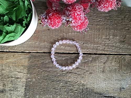 AAA++ Rare Quality Genuine Rose Quartz Bracelet, Heart Chakra Peace Bracelet, Semi Precious Gemstone Healing Crystals, Gift for Her, for Love Love Stone 6mm Code- WAR1760