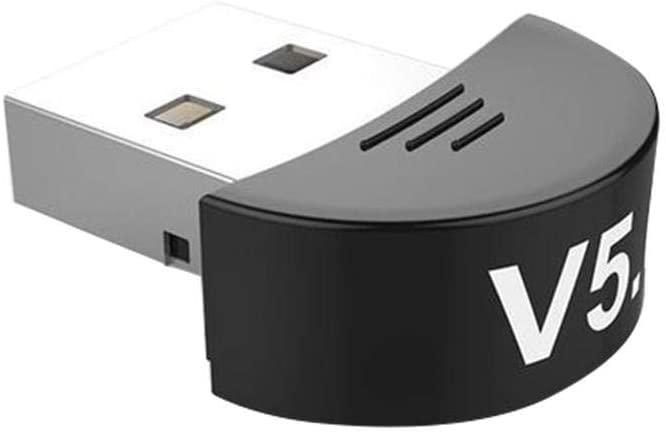 fineshelf Bluetooth 5.0 USB Wireless Adapter Bluetooth Dongle - Free Drive for Music Audio Windows Free Drive Car Desktop Computer USB Interface Universal