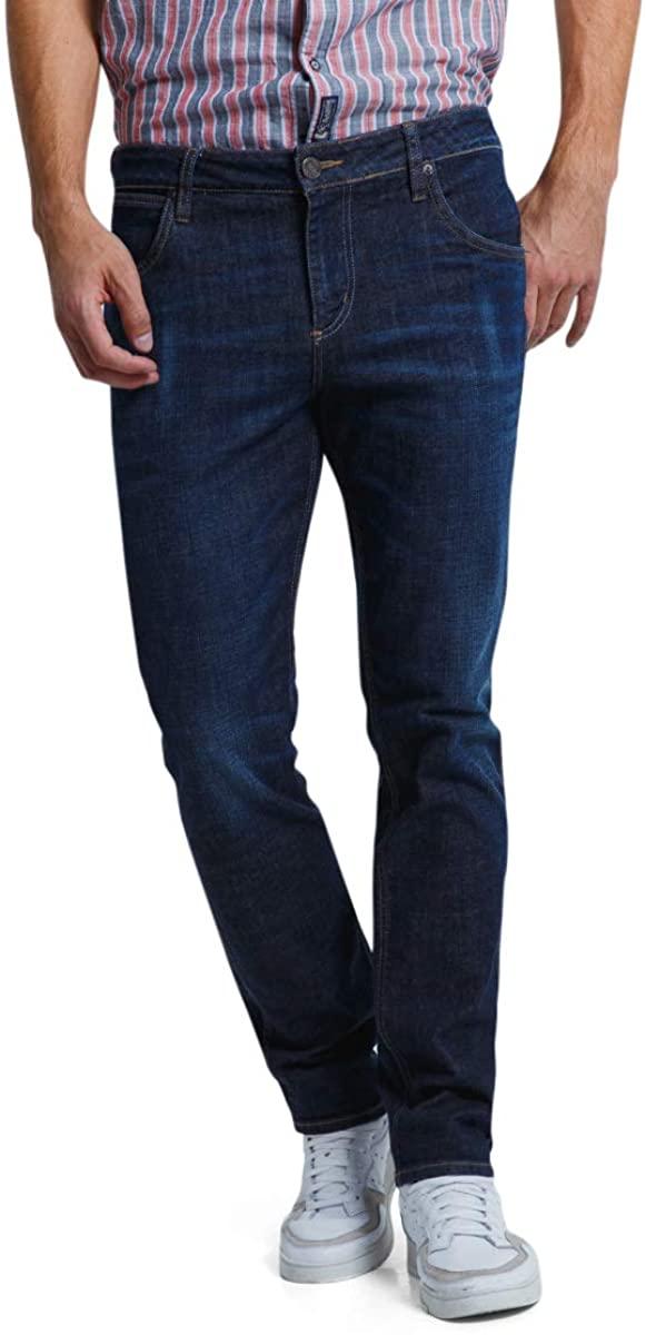 AMERICANINO Men's Mid-Rise Regular Straight Jean