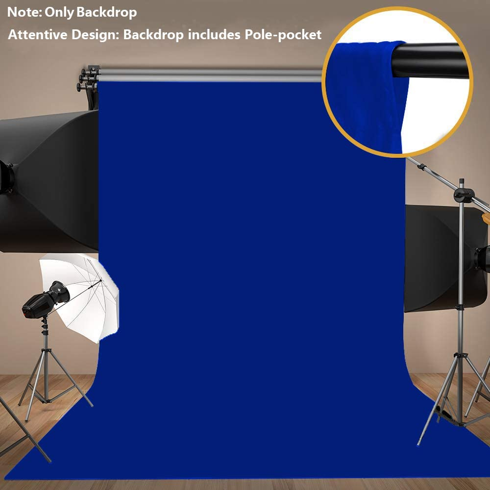 MEETS 5x7ft Non-woven Fabric Backdrop Blue Photography Background Studio Props Photo Booth YouTube Backdrop LANWMT001