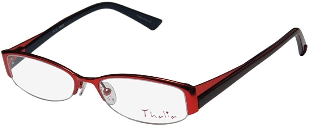Thalia Perla Womens/Ladies Designer Half-rim Flexible Hinges Avant-garde Design Authentic Eyeglasses/Glasses