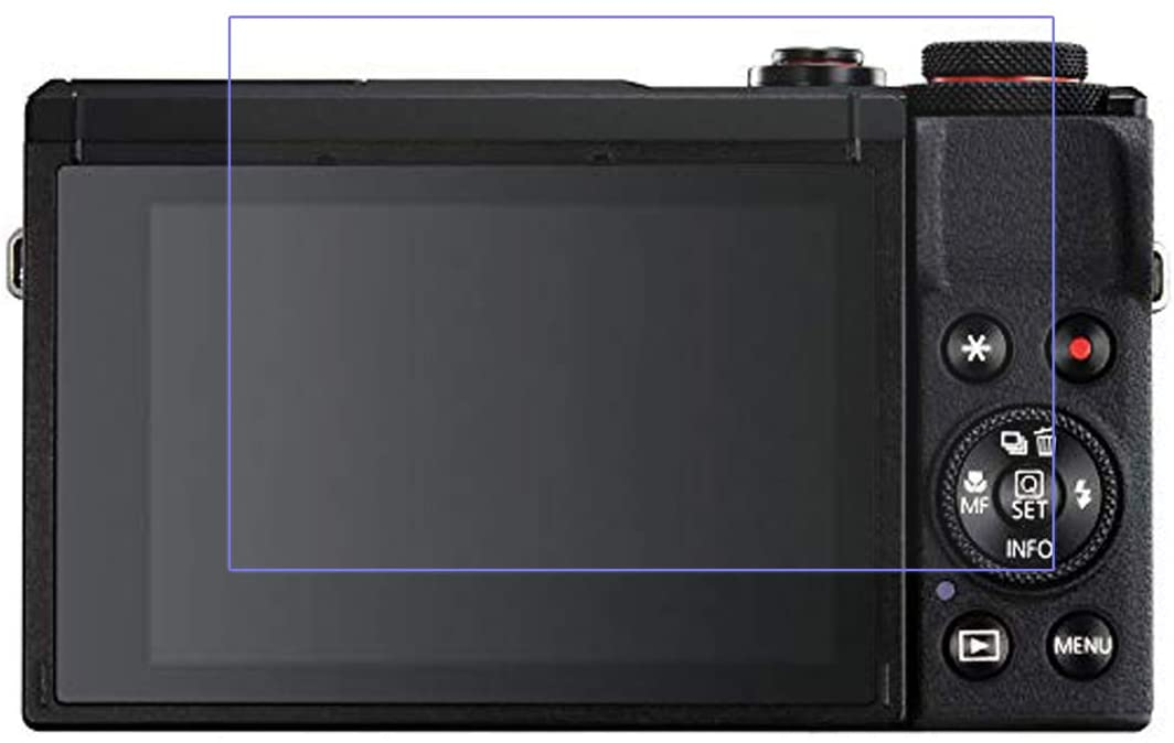 Disscool Tempered Glass Screen Protector for Canon PowerShot G7X Mark III,0.33mm Thickness with Real Glass