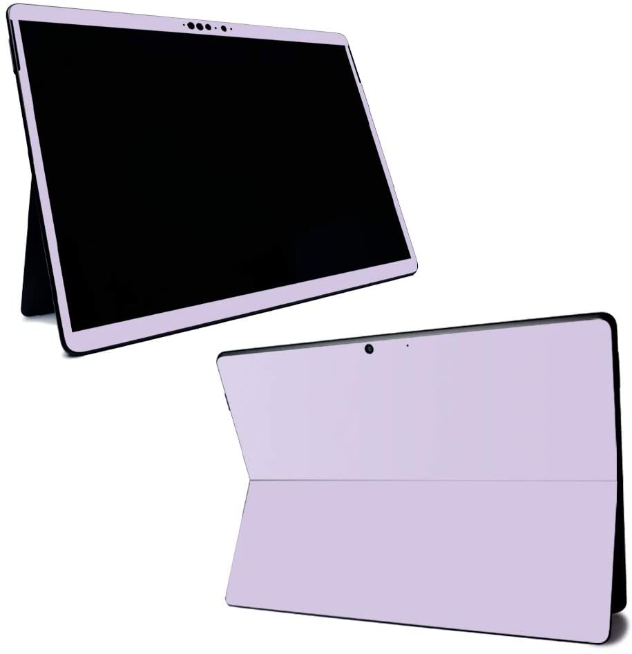 MightySkins Skin for Microsoft Surface Pro X - Solid Lilac   Protective, Durable, and Unique Vinyl Decal Wrap Cover   Easy to Apply, Remove, and Change Styles   Made In The USA