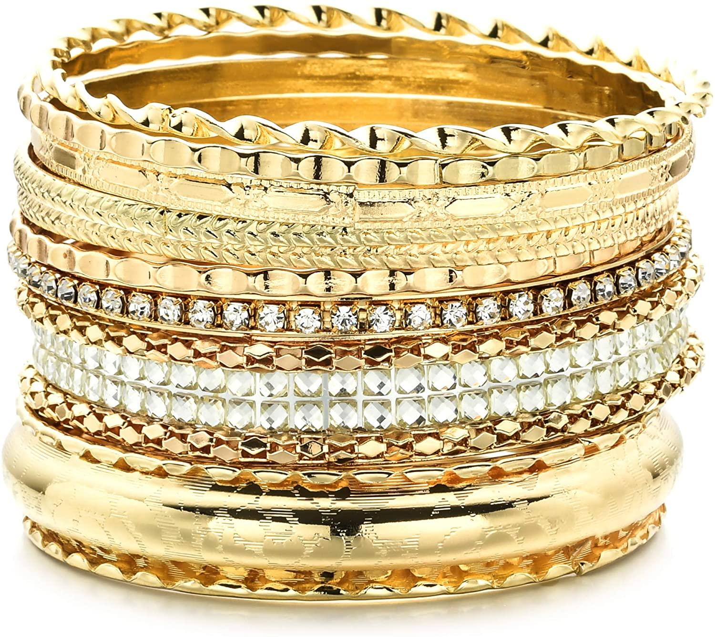 WWBGINF African Bracelet Gold Egypt Punk Gothic Okoye Snap Resin Chunky Leather Fashion Flexible Wrist Chain for Girls, Women