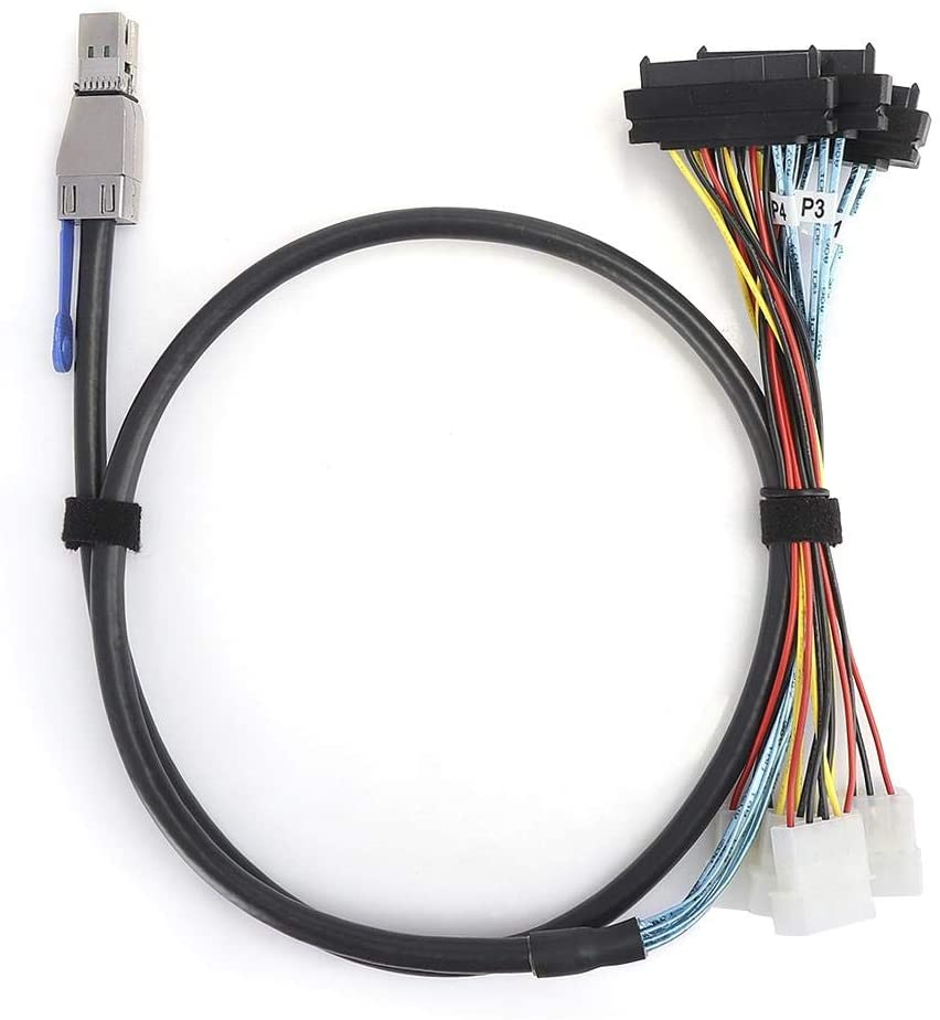 awstroe More Design G0502 Cable, Cable for Server Switch Hard Disk Cable, Cable, Computer Switch for Server Hard Disk(2 Meters)