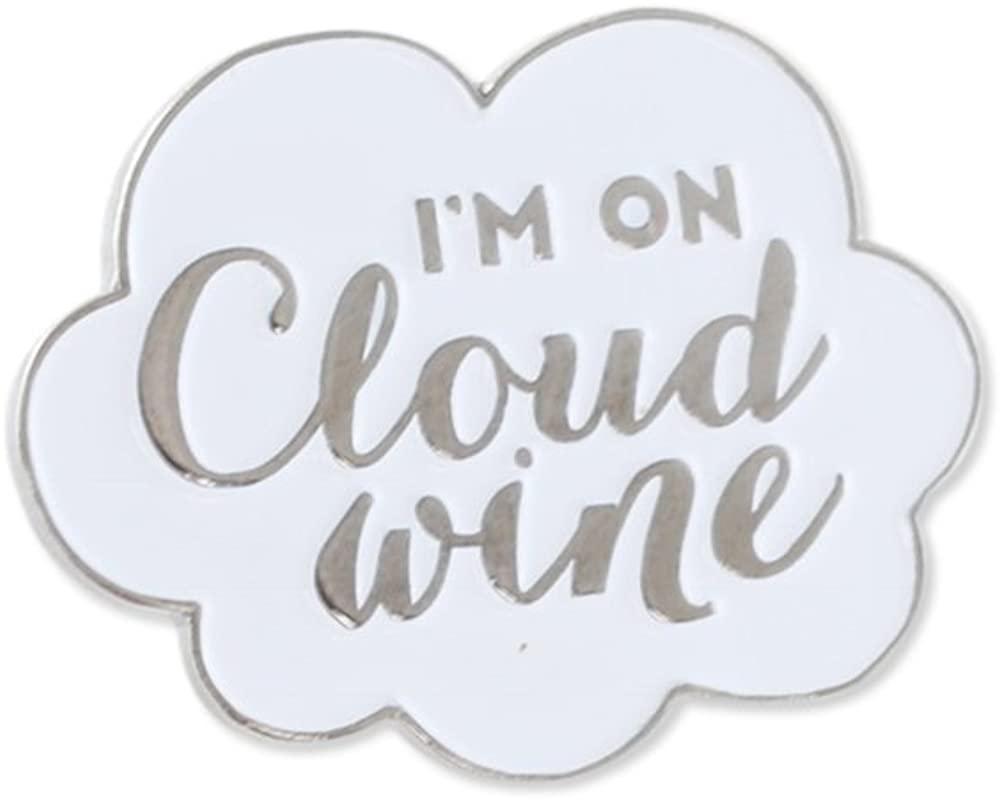 WIZARDPINS Cloud Wine Enamel Diestruck Lapel Pin (1 Pin)