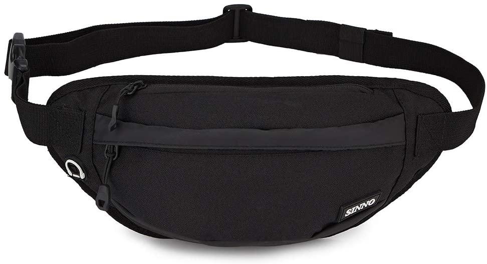 Fashion Fanny Pack For Men Women Lightweight Walking Adjustable Blet Waist Pack Pouch Bag(Black)