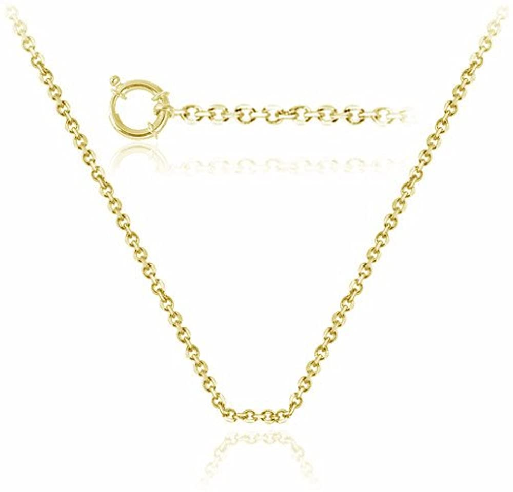 Studs Galore Round Cable Link Chain in 10K Yellow Gold - 18 inches