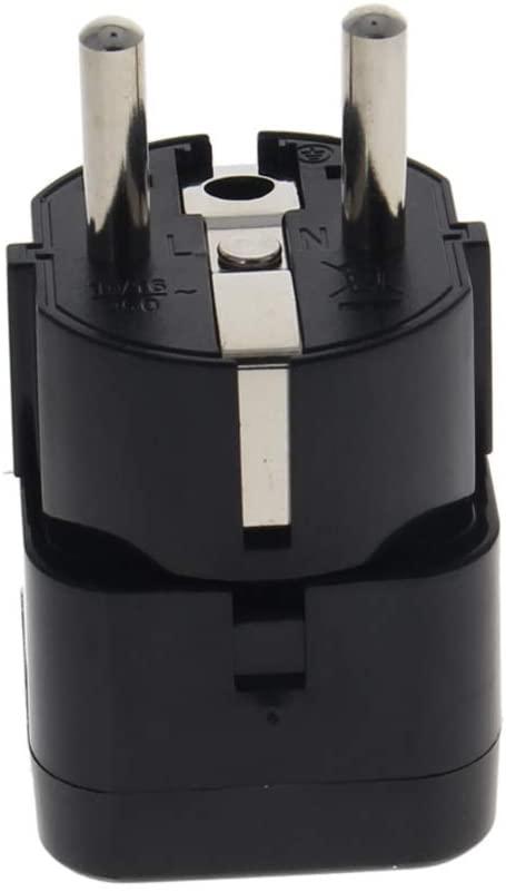 Fielect WD-9 EU Plug to Universal Plug Adapter AC110-250V 10A EU to Universal Power Socket Adapter Converter 1Pcs