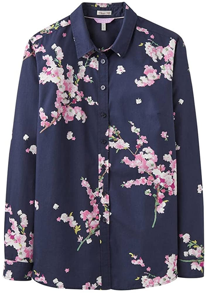 Joules Lucie Printed Classic Shirt French Navy Blossom 6