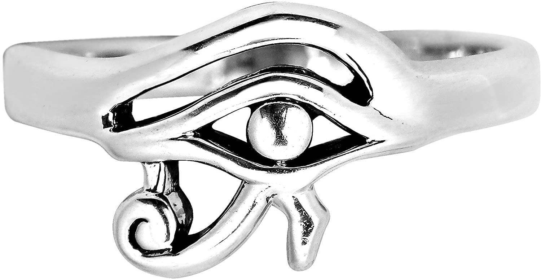 AeraVida Everyday Egyptian Eye of Horus .925 Sterling Silver Ring