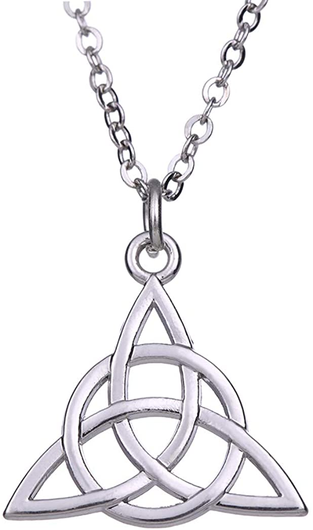 Cooltime Celtic Trinity knot Triquetra Circle Silver Pendant Necklace Women Jewelry