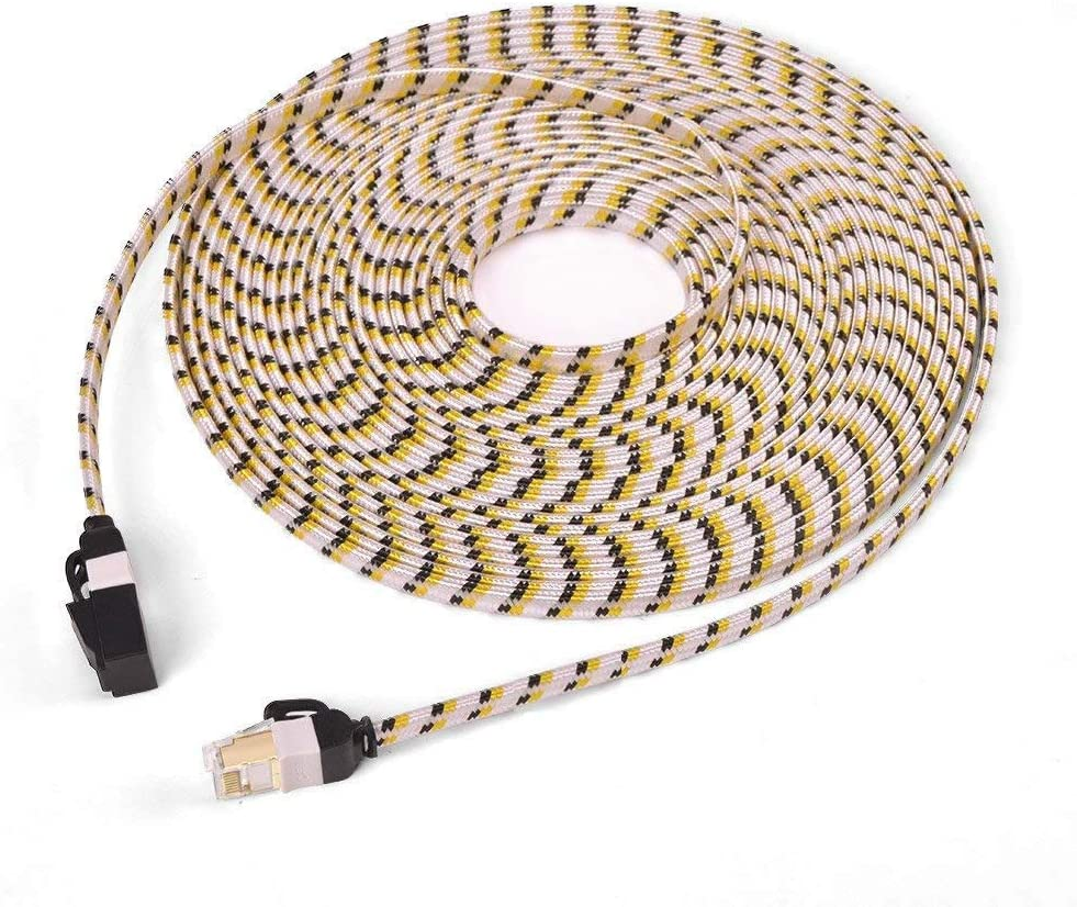 5M/16.4ft, CAT7 Ethernet Cable, Flat Internet Network LAN Patch Cords, LSOH Engineering Grade Network Cable