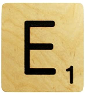Rustic and Refined Design Large 5 Inch Scrabble Tile - E