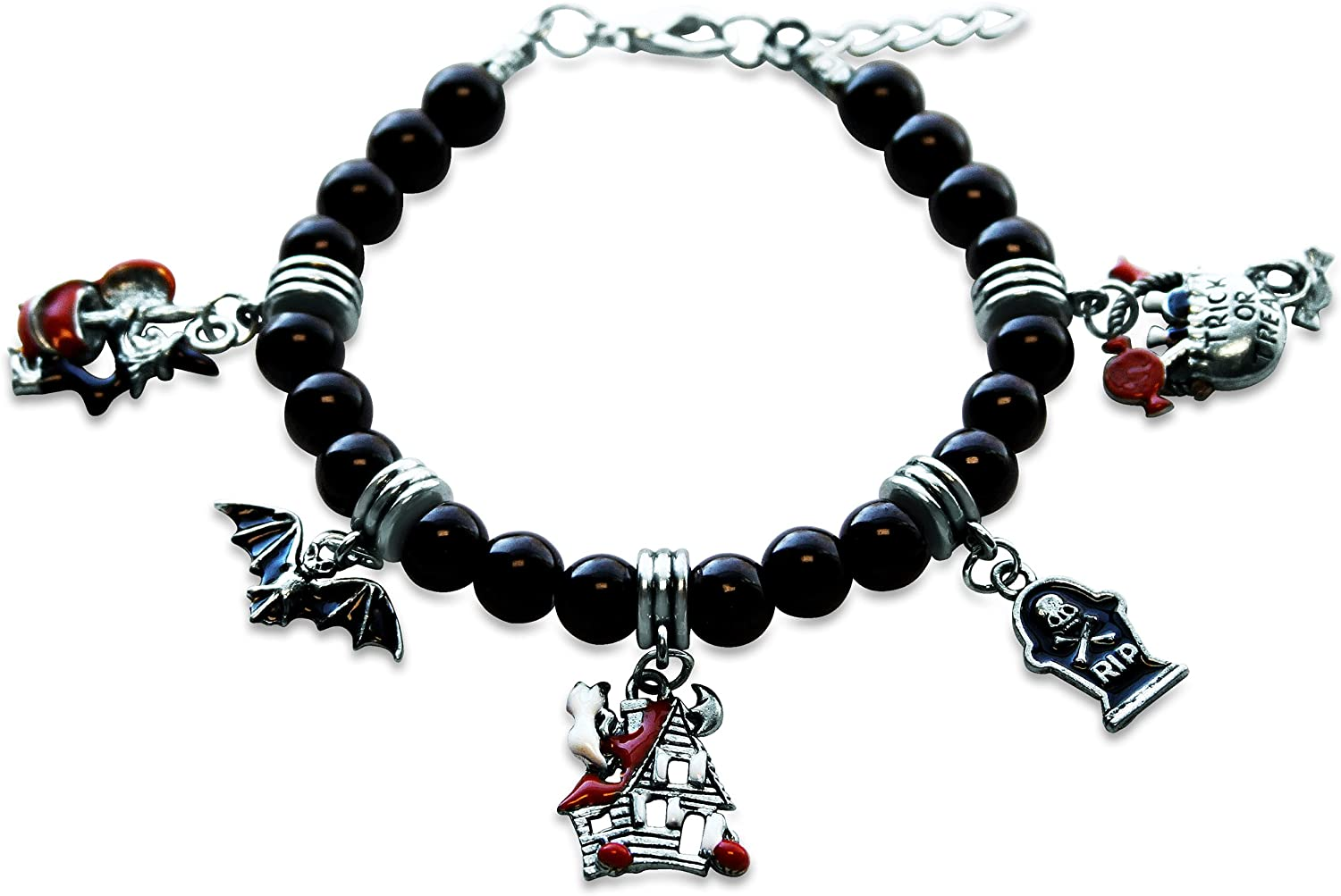 Whimsical Gifts Halloween Charm Bracelet in Silver