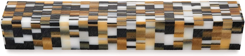 WoodRiver Acrylic Pen Blank, Golden Rubix