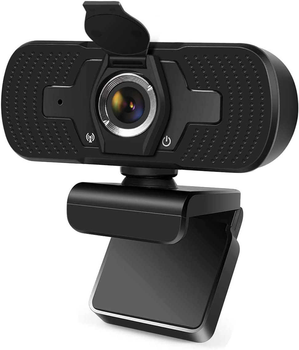 1080P Webcam with Microphone, USB PC Computer Webcam with Noise Reduction, Sharp Image, Plug & Play for PC/Mac Laptop/Desktop Video Streaming, Conference, Gaming, Online Classes