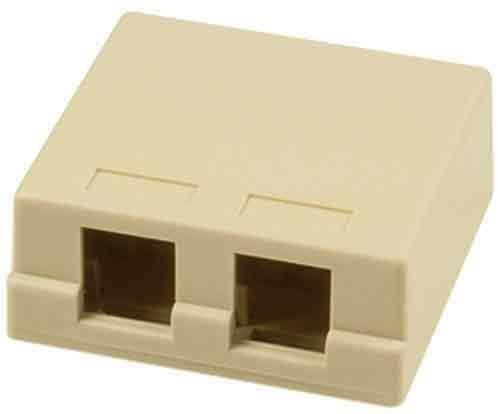 Legrand - On-Q WP3502IV Surface Mount Box 2Port, Ivory