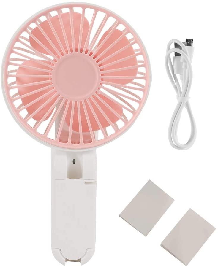 Topzon USB Fans - USB Charging Portable Handheld Mini Electric Fan Summer Desk Table Cooling Fans(Pink)