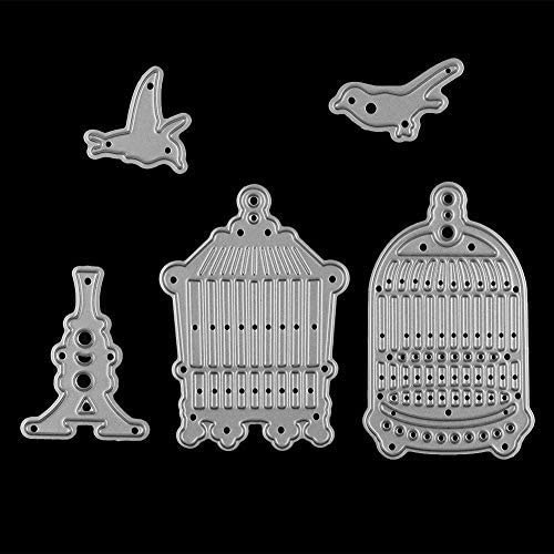 5PCS Birdcage Cutting Dies, Creative Metal Cutting Dies Stencils Pattern Template Mould for Card Making DIY Embossing Scrapbooking Paper Festival Decor