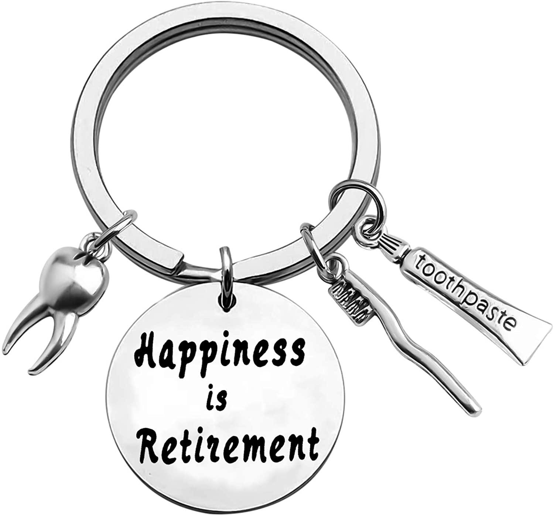 ENSIANTH Dentist Retirement Keychain Dentist Gift Tooth Keychain Hygienist Gift Appreciation Gift for Doctors