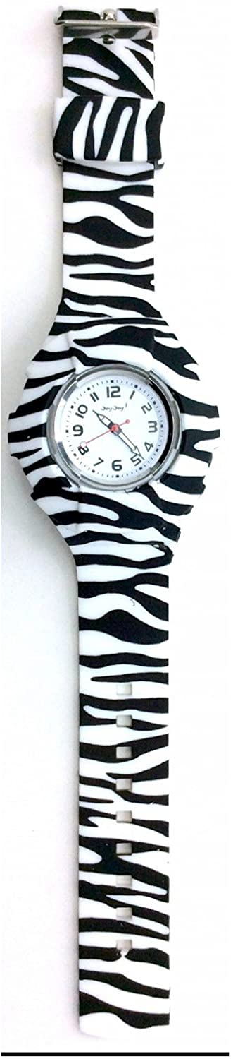 JoyJoy! Zebra Interchangeable Silicone Watch JJ-4001OS - Cutest Gift for a Loved one!