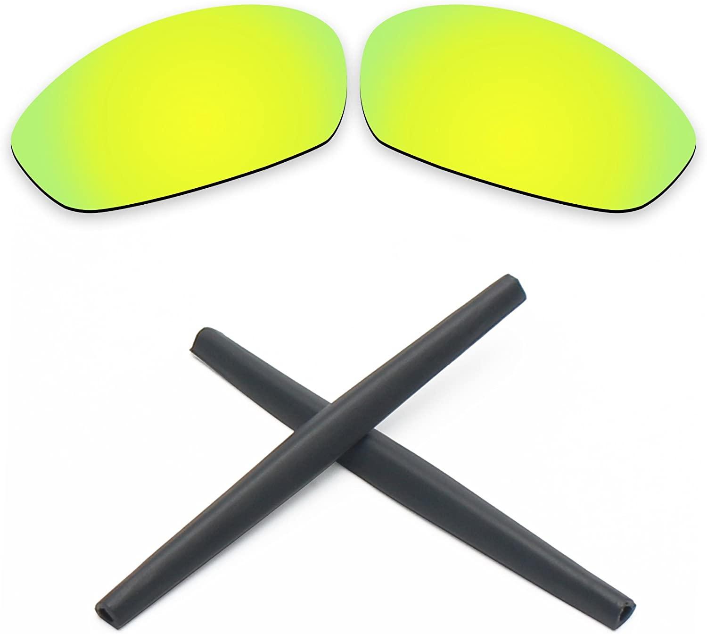Replacement Lenses & Earsocks Rubber Kits for Oakley Whisker Sunglasses