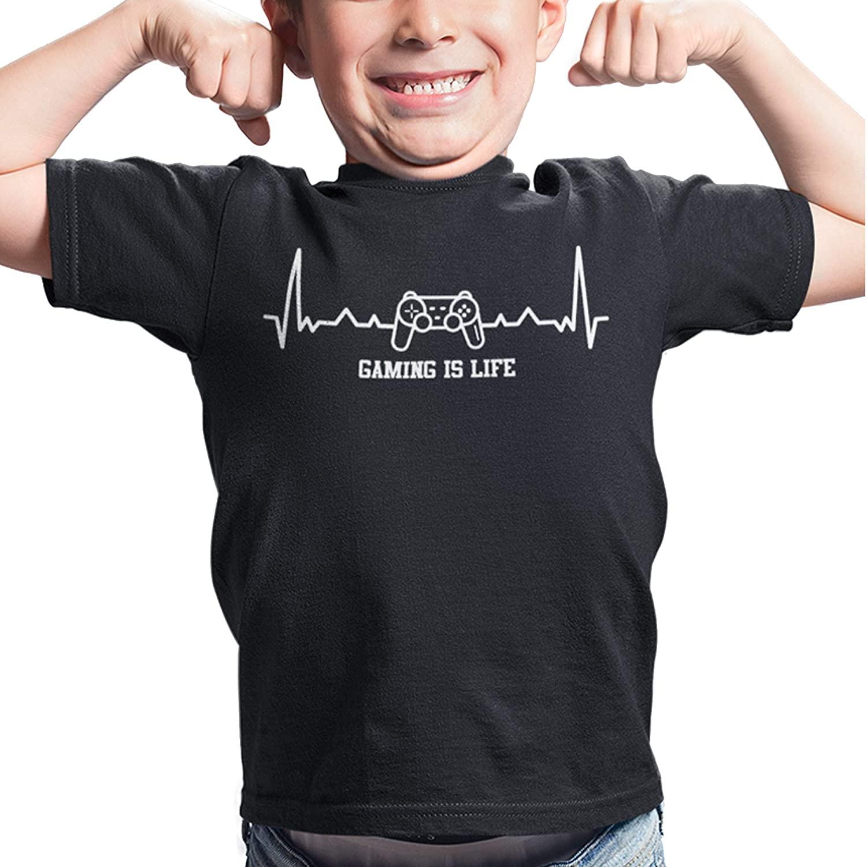 Gaming is Life T Shirt | Boys Gaming Gift | Funny T Shirts for Boys | Graphic Novelty T Shirts Funny Gaming Tshirt