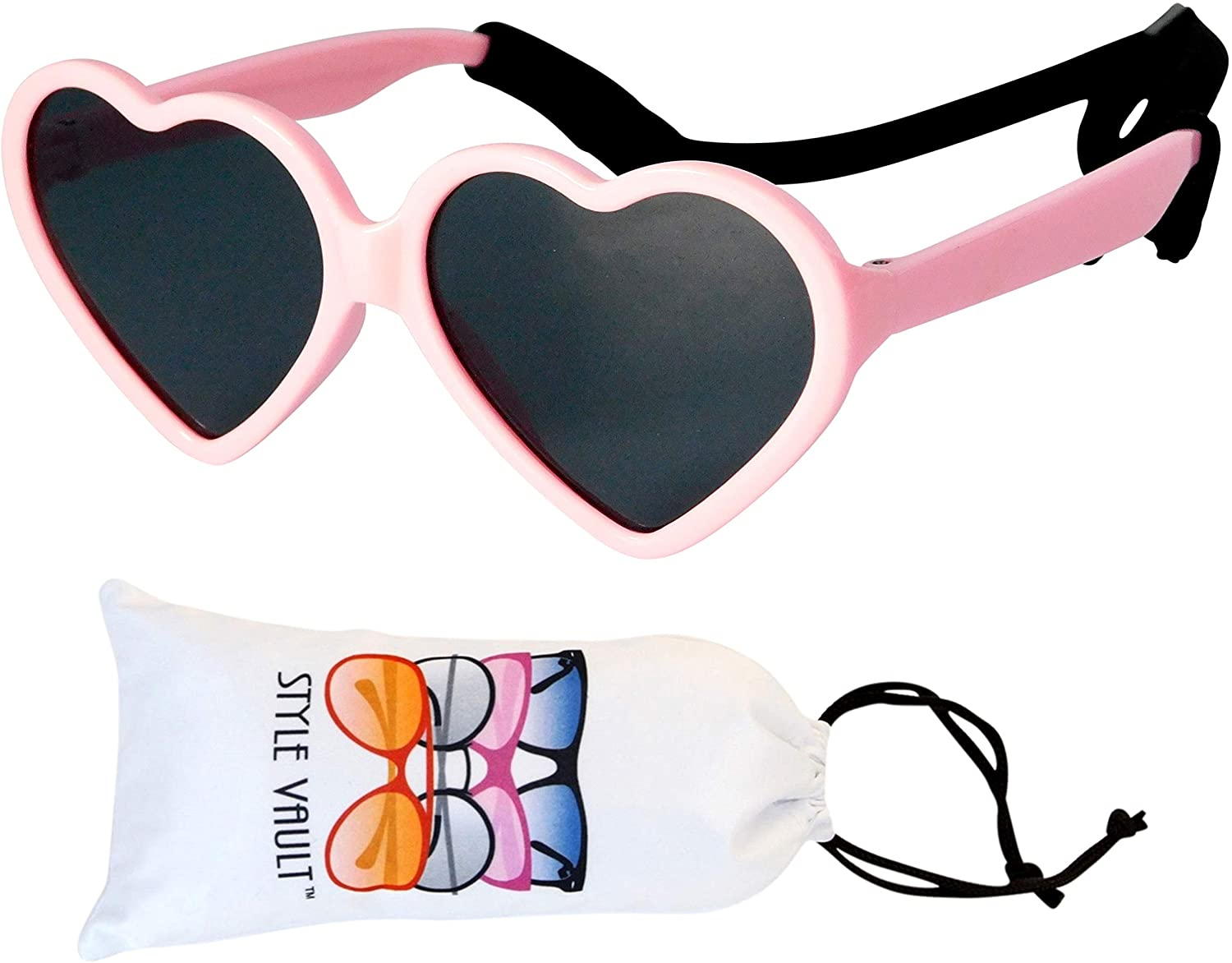 Kd3141 Infant Toddler Age 0-24 Months Heart Baby Sunglasses